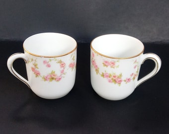 Noritake ~ Demitasse ~ Tea Cups ~ Tea for Two ~ Espresso ~ Japan ~ Miniature ~ Turkish Coffee ~ Vintage