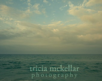 Oversized Ocean Photograph - Large 30x45 Fine Art Photography Print - blue green sea - Witness to Desire No. 1303-0181