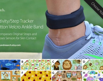 Animals Activity/Step Tracker 100% Cotton Ankle Band – Encompasses Original Straps and Exposes Sensors for Skin Contact