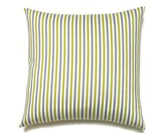 Striper Pillow Cover, 20x20 Pillow Cover, Decorative Pillows, Accent Sofa Striped Pillow, Robert Allen Best Candy Nickel