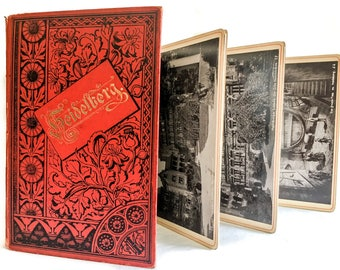 Antique Souvenir  Photo Booklet. Heidelberg, Germany. Accordion fold. 19th century souvenir book.