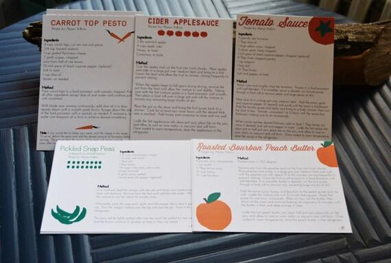 recipe stationery set blank seasonal and local csa vegetable
