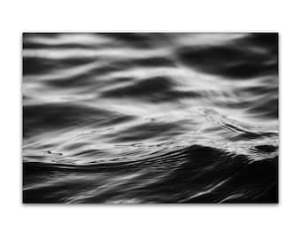 black and white photography, abstract, black and white, water, wave - Water II, 8x12 photograph