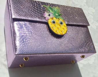 Pineapple box shoulder bag