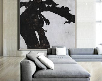 Abstract painting Large Canvas Art, Minimalist Abstract Art, hand painted acrylic painting on canvas - Ethan Hill Art No.H60S