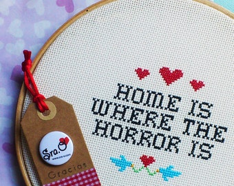 """""""Home is where the horror is"""" rack"""