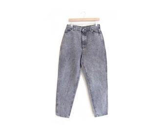 50% of Proceeds go to Planned Parenthood! Vintage Lee Riders, High-Waisted Acid Wash Black Jeans, 90's Denim, Mom Jeans, 30 x 30, Medium