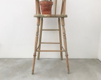Antique Doll Chair wood kids furniture plant stand repurposed