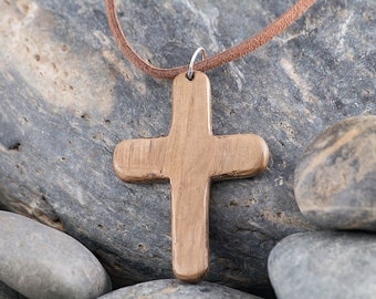 Wooden Cross on a Suede Cord WN010