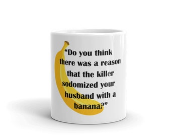 Law and Order SVU Olivia Benson Funny Banana Mug Gift for SVU fan