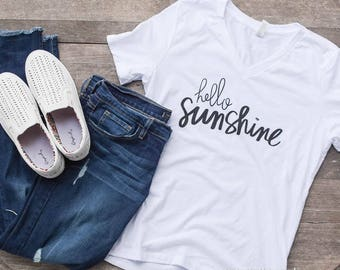 SALE!!!  Hello Sunshine White T-shirt