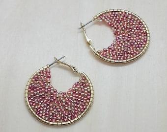 Rose & Gold hoop earrings