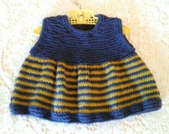 Hand Knitted Girl's Jacket, Tunic Top and Bloomers
