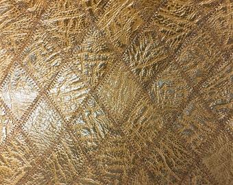 "AM028 Leather, Aprox 23.5""L X 10.5""W X 1/32"" thick/ Medium Brown Bull Hide Print"