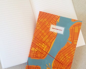 New York City Map Notebook