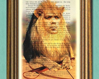 TYRION THE LION Game of Thrones Dictionary Art Print -Quotes- Recycled Antique Book Page Print -