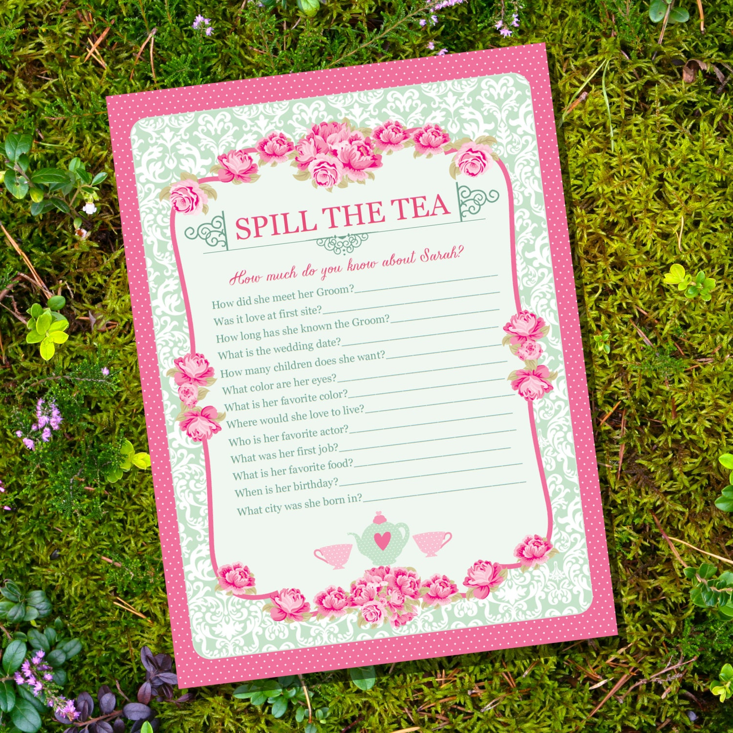 High Tea Party Game Spill The Tea Party Game Instantly