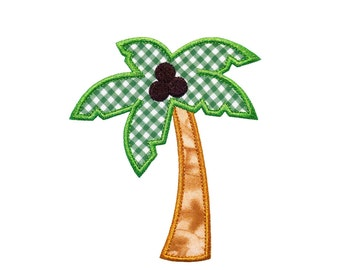 """Palm Tree Machine Embroidery Designs Applique Pattern in 4 sizes 4"""", 5"""", 6"""" and 7"""""""
