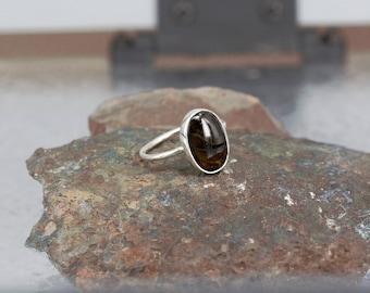 Red Tourmaline Ring - Handmade & Silver