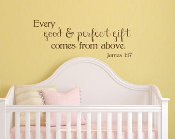 Bible Verse Wall Decal - Every Good and Perfect Gift Decal