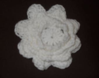 handmade white crochet flower