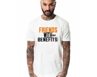 Friends with wifi benefits t-shirt