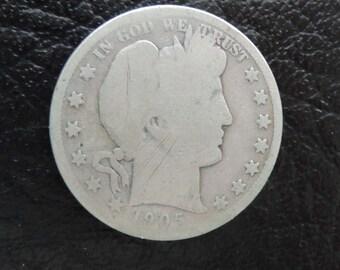 1905-S  Barber/Liberty Head Half