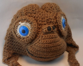E.T. HAT COSTUME Crochet Infant (0-6 mo) PATTERN only