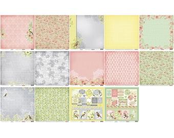 Scrapberry's, Art of Nature, 12 x 12 Paper Pack, Scrapbooking, Card Making,  Mixed Media, Mini Album