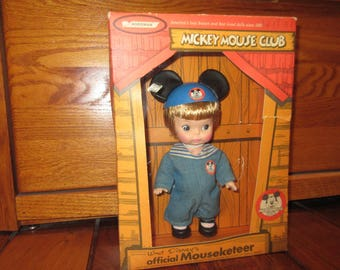 Vintage Walt Disney's Official Mouseketeer Toddler Boy Doll by Horsman, Mickey Mouse Club (Style #70) in Box