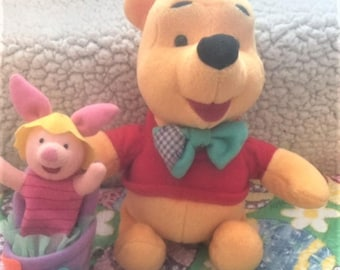 Winnie the Pooh with Piglet in an Easter basket - 1998