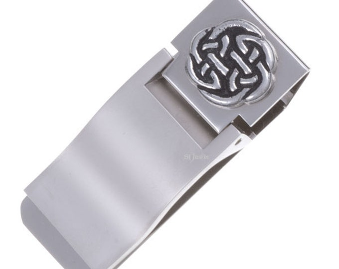 Money clip Lugh's knot-Hand Made and Design in UK
