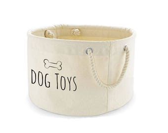 Dog Toys Basket, Dog Toys Storage Bag, Dog Toys Bin, Dog Toys Organiser