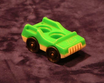 Fisher Price Little People Green Car Truck