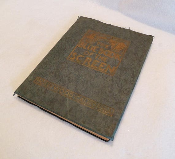 Rare1924 BLUE BOOK Of The SCREEN Vintage Hollywood Movie Photos & Bios.. Ruth Wing Editor