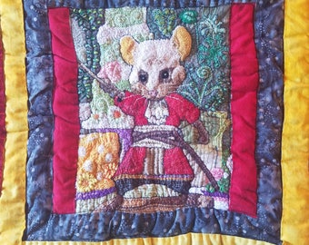Door Mouse Quilt Square