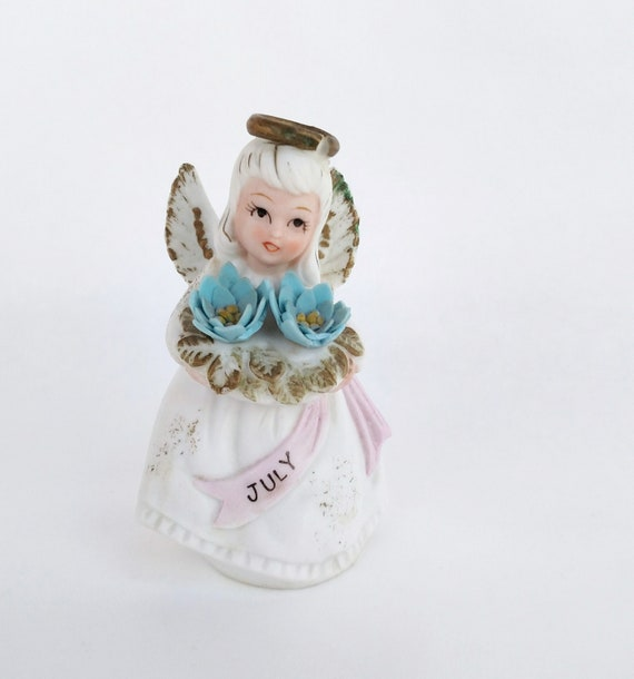 Vintage Porcelain July Birthday Angel by Lefton