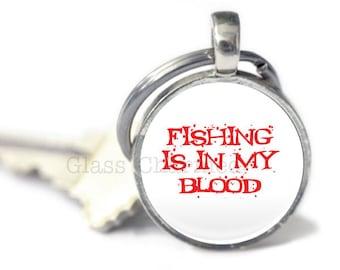 Angeln-Schlüsselanhänger, Fisch Schlüsselanhänger, Angeln, Geschenke, Angeln Zitat Schlüsselanhänger (Angeln 5)