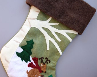 "Personalized Child's Stocking -- ""Dear Deer Child"""