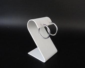 """Sterling Silver Hoop Pierced Earrings -Simple Eleant Earrings - 1.25"""" Silver Hoop Earrings"""