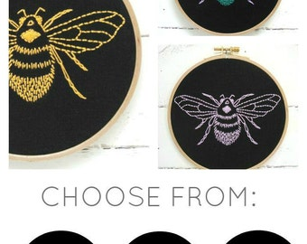 Bumblebee Embroidery Kit (black)