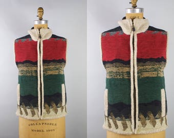 Vintage Sleeveless Jacket Vest / CB Wraps by Canvasbacks Vest