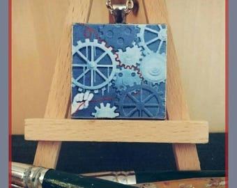 Manipulating Fate Original Art Pendant Necklace