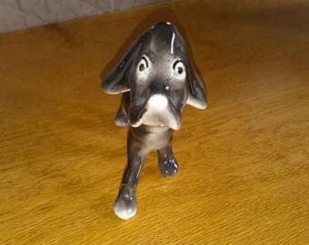 Vintage Black Nodder Dog Figurine