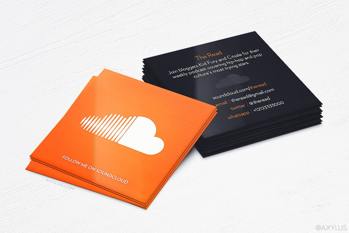 Soundcloud Business Cards Producer Design and Printing