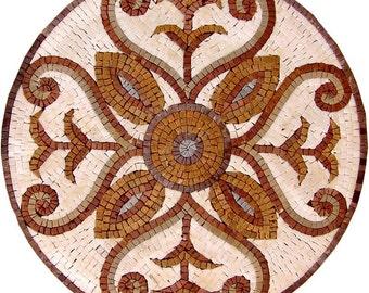 Elegant Round Mosaic - Horatia