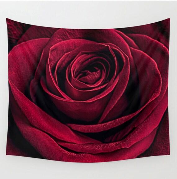 Tapisserie rose tenture murale tapisserie de la nature - Tapisserie capitonnee rose ...