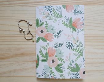 Personalized Address Book - Pink Wildflowers