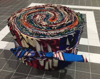 Abala Collection African Wax Print Jelly Roll