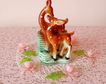 Vintage fawn planter